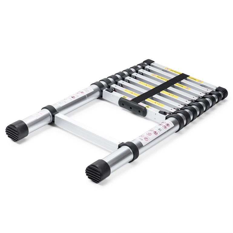 MAXCRAFT 2,60 m Telescopic Aluminium Ladder with Finger Protection Spacers – Bild 4