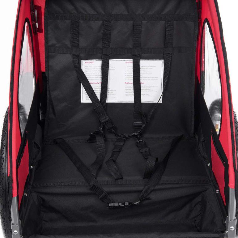 SAMAX Remorque Vélo convertible Jogger 2en1 Enfant - en Rouge/Noir - Silver Frame – Bild 9