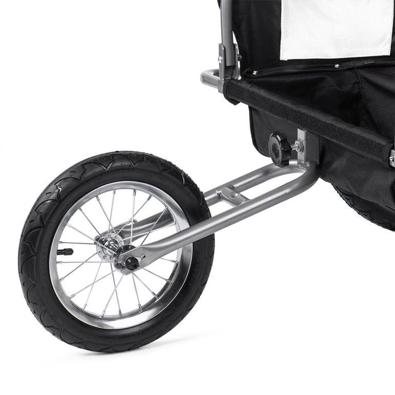 SAMAX Remorque Vélo convertible Jogger 2en1 Enfant - en Blanc/Noir - Silver Frame – Bild 12