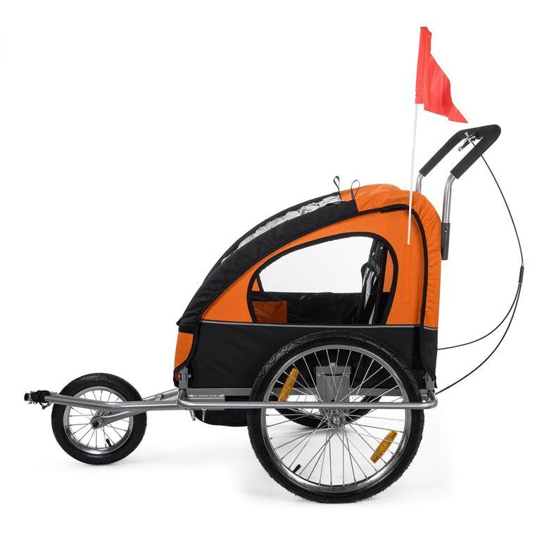 SAMAX Remorque Vélo convertible Jogger 2en1 Enfant - in Orange/Noir - Silver Frame – Bild 5