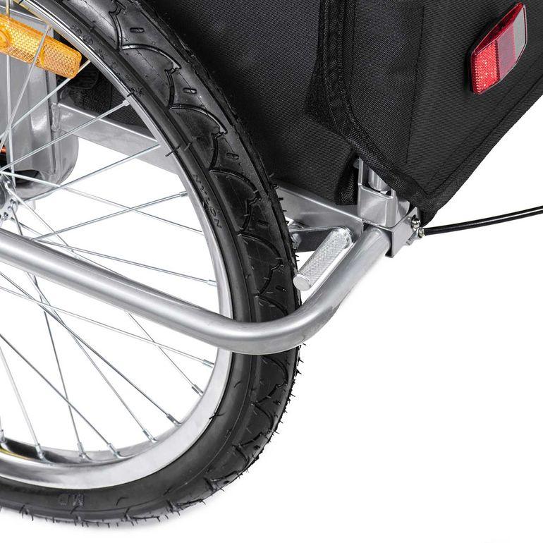 SAMAX Remorque Vélo convertible Jogger 2en1 Enfant - in Orange/Noir - Silver Frame – Bild 17
