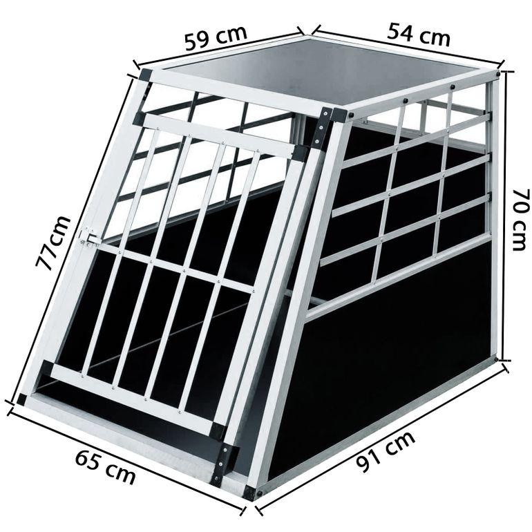 zoomundo Hundetransportbox / Kofferraumbox aus Aluminium - 1-Türig - B-Ware – Bild 2