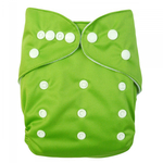 Baby Vivo Bamboo Diaper Cloth with two Bamboo Inserts - Green 001
