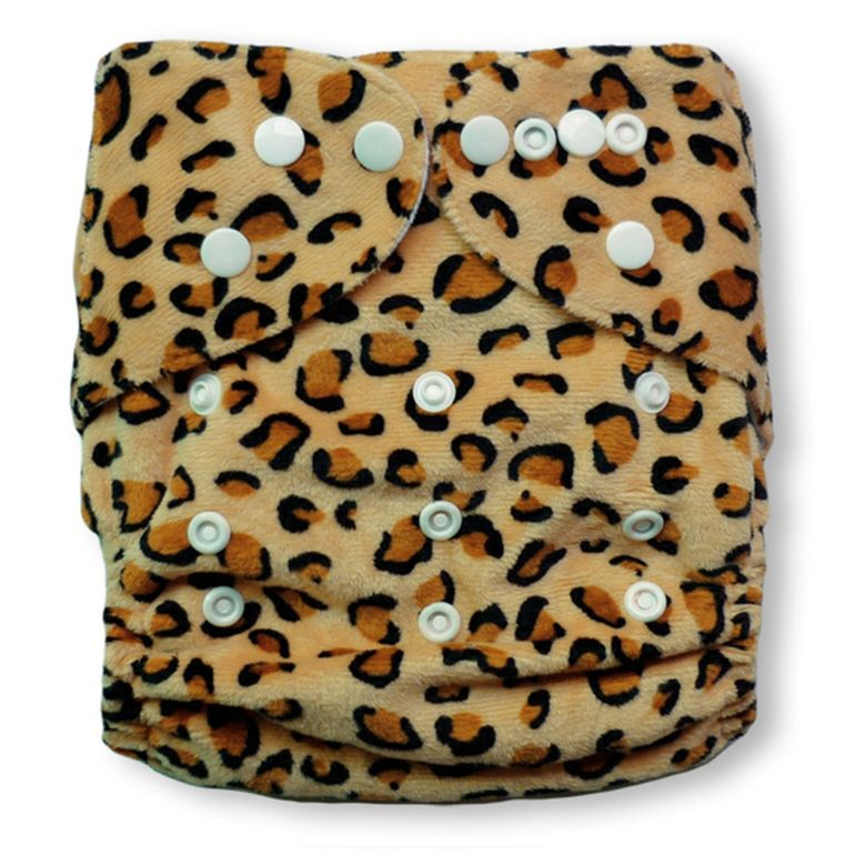 Baby Vivo Bamboo Diaper Cloth with two Bamboo Inserts - Leopard