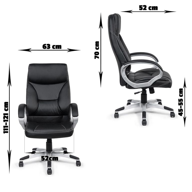 MY SIT Office Chair Bora Bora Faux Leather in Black  – Bild 9
