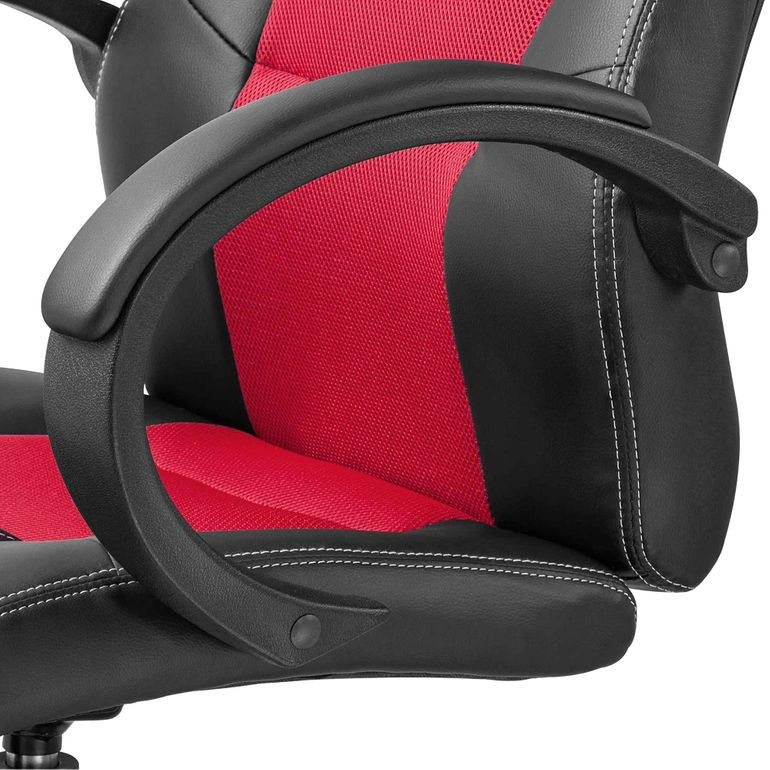 MY SIT Chaise de Bureau Racing Siége Fauteuil Simili Cuir Red – Bild 11
