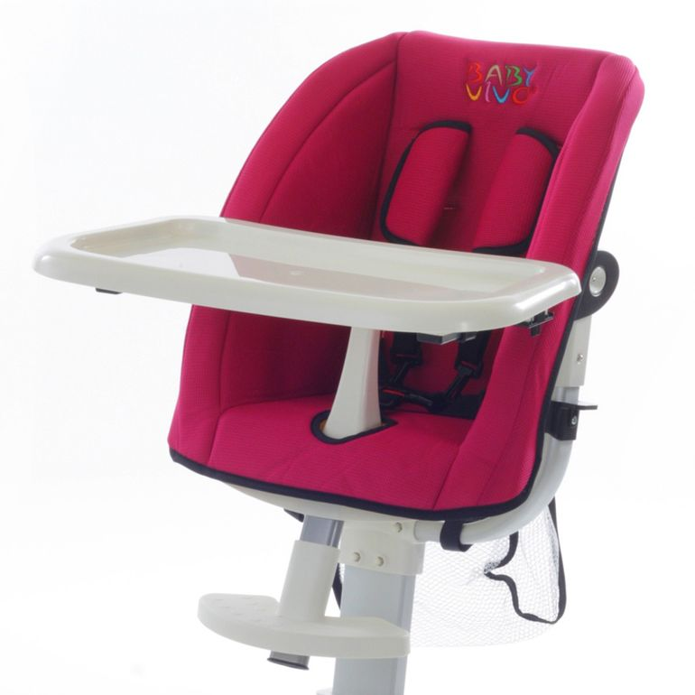 Baby Vivo Replacement Cover for design aluminum highchair - pink