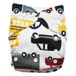 Baby Vivo Windel / Stoffwindel aus Bambus mit zwei Mehrwegeinlagen – Cars