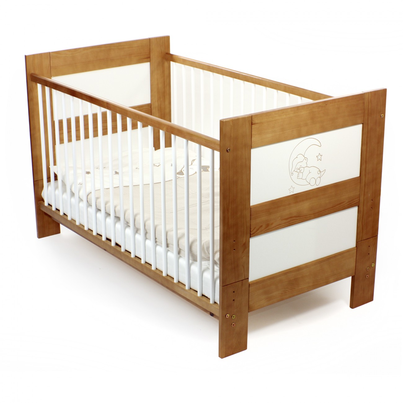baby vivo kinderbett juniorbett 140 x 70 cm teddy baby kind kinderm bel kinderbetten. Black Bedroom Furniture Sets. Home Design Ideas
