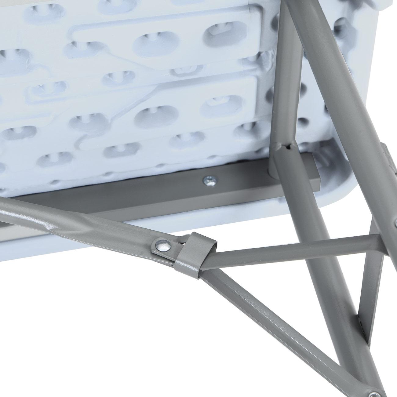 Strattore Table de Jardin en Plastique - Pliable 180 x 70 x 74 cm en Blanc  Modèle 2018