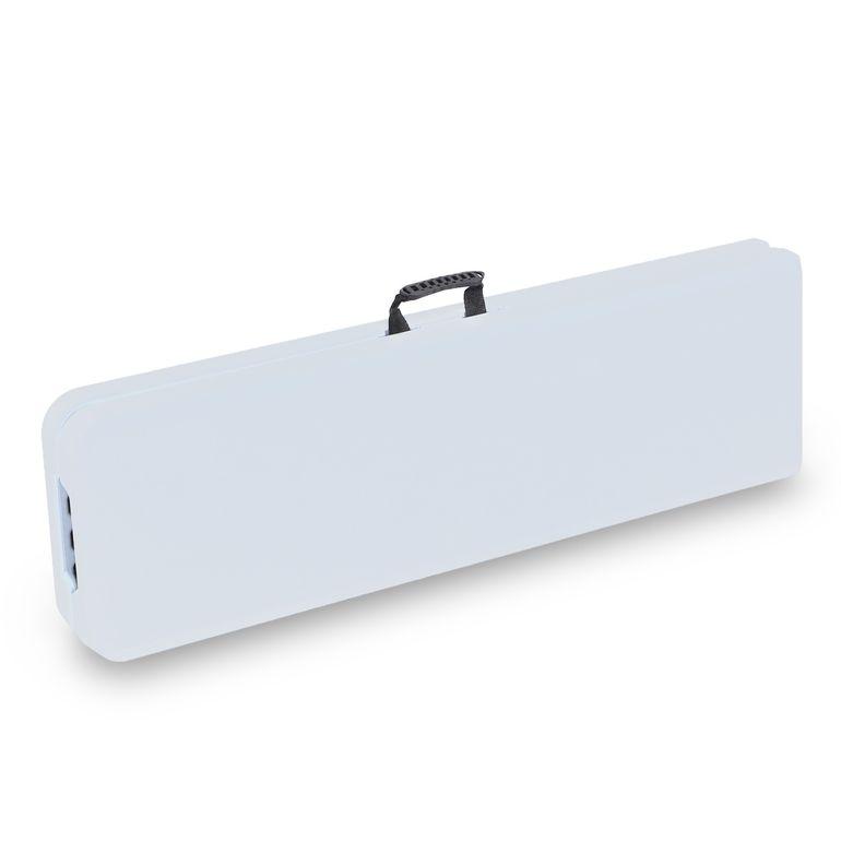 Strattore Banc de Jardin en Plastique - Pliable 183 x 30 x 43,5 cm en Blanc – Bild 6
