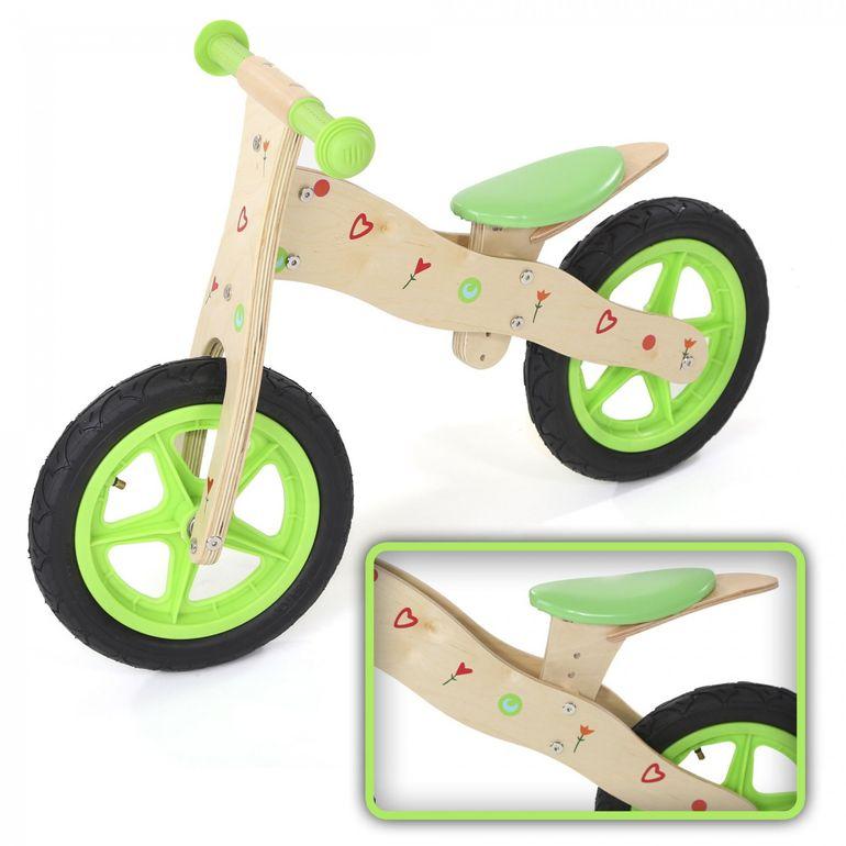 Baby Vivo 12 Zoll Kinderlaufrad Kinder Laufrad aus Holz - Classic in Grün – Bild 1