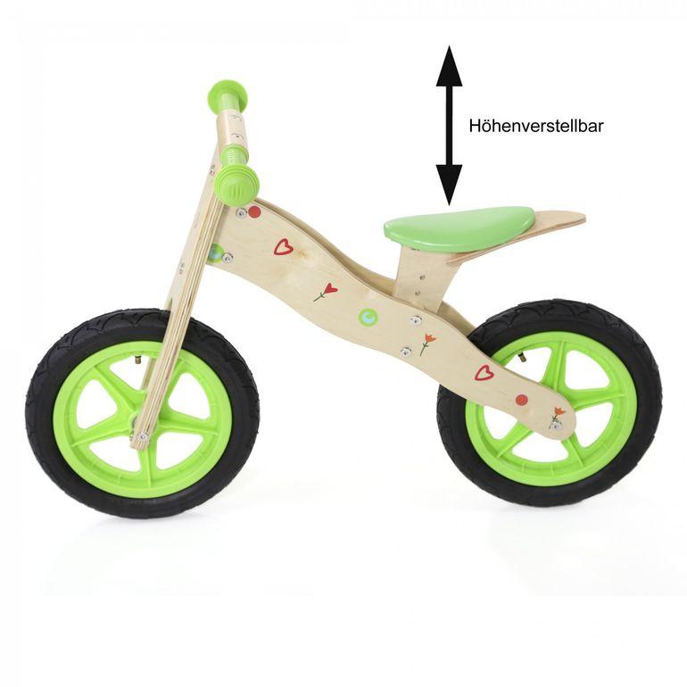 Baby Vivo 12 Zoll Kinderlaufrad Kinder Laufrad aus Holz - Classic in Grün – Bild 3