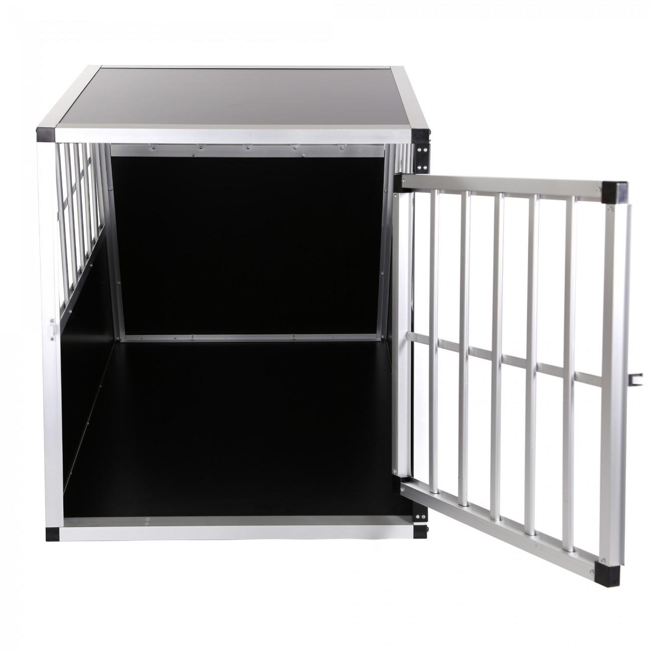 cage de transport pour chien mobile box aluminium caisse boite premium 1 porte ebay. Black Bedroom Furniture Sets. Home Design Ideas