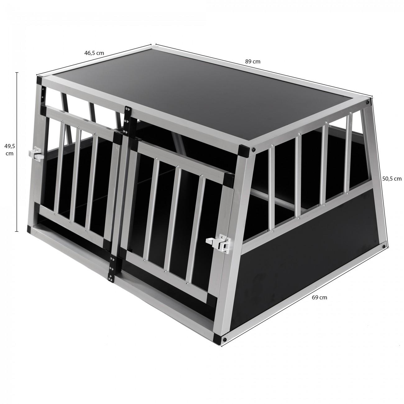 zoomundo cage de transport pour chien 2 portes premium animalerie cage de transport pour chien. Black Bedroom Furniture Sets. Home Design Ideas