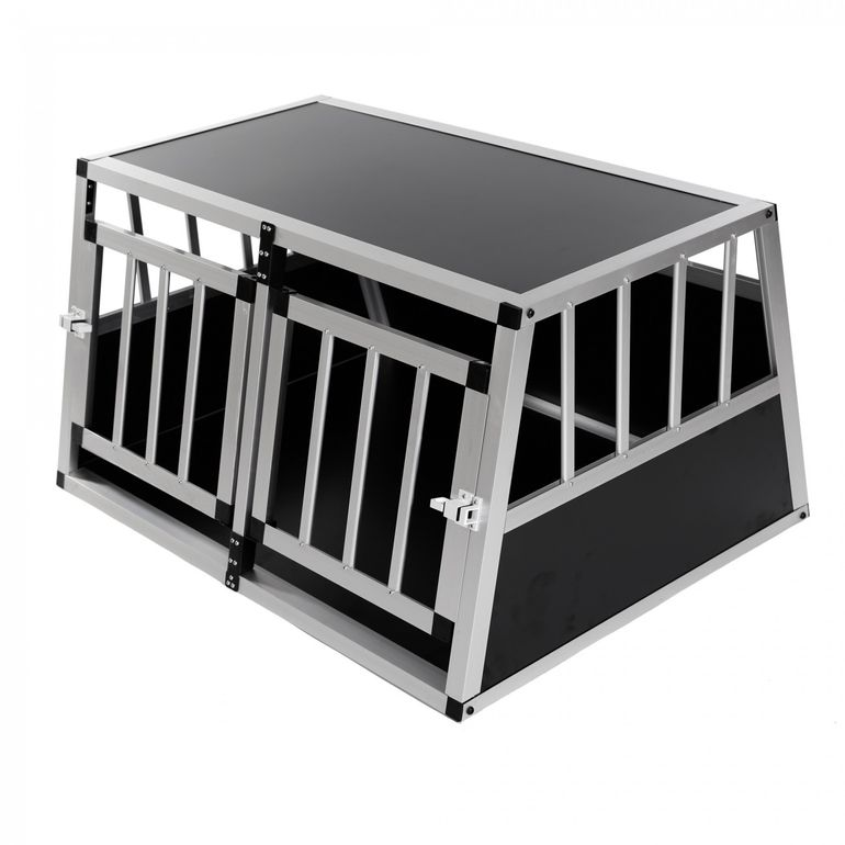zoomundo Hundetransportbox / Kofferraumbox aus Aluminium - 2-Türig Premium – Bild 1
