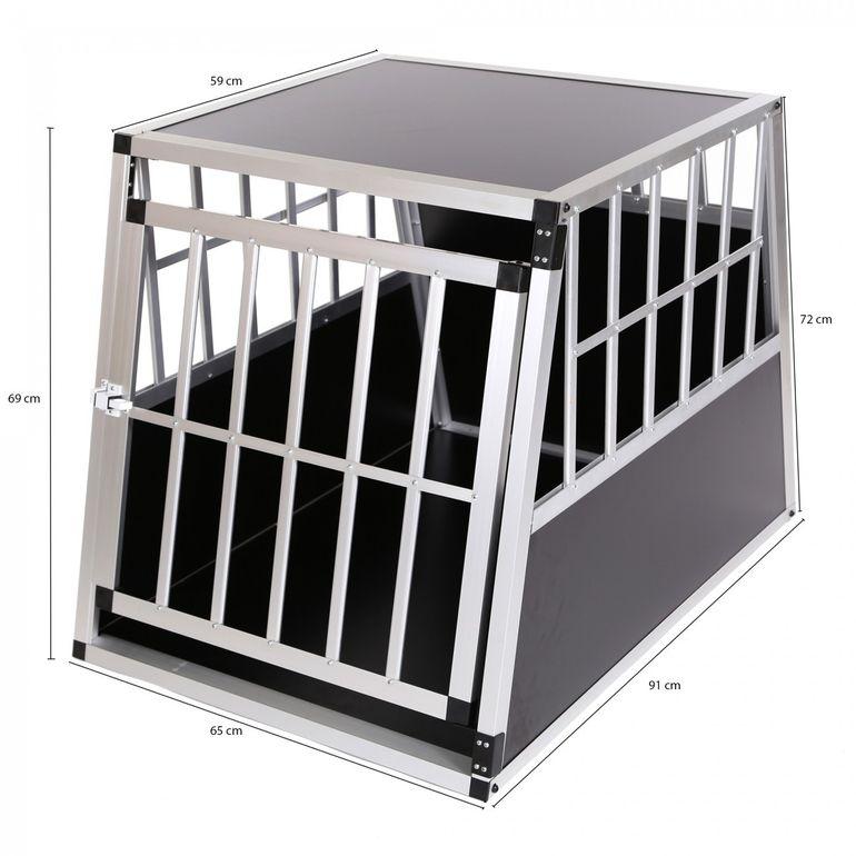 zoomundo Hundetransportbox / Kofferraumbox aus Aluminium - 1-Türig Premium - B-Ware – Bild 2
