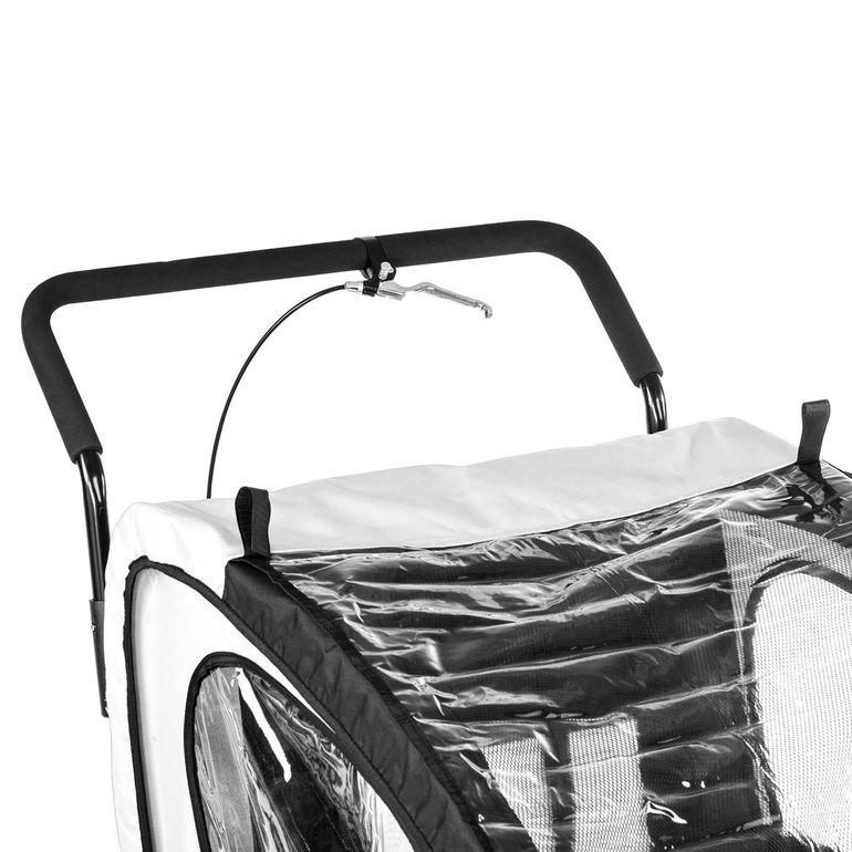 SAMAX Remorque Vélo convertible Jogger 2en1 Enfant - en Blanc/Noir - Black Frame – Bild 10