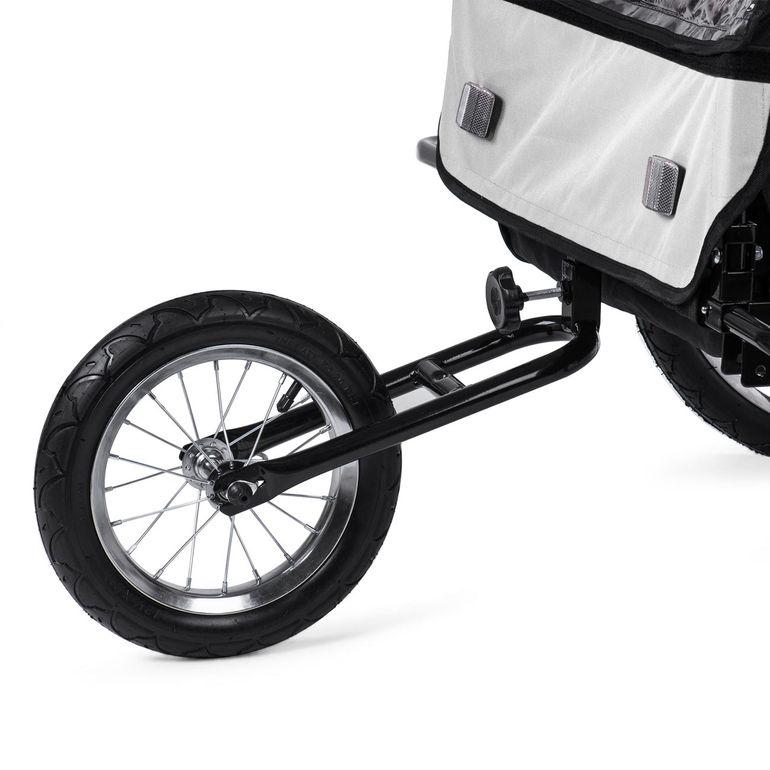 SAMAX Remorque Vélo convertible Jogger 2en1 Enfant - en Blanc/Noir - Black Frame – Bild 12