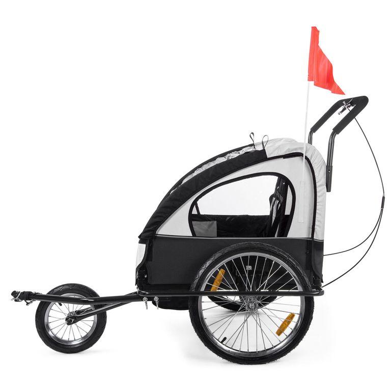 SAMAX Remorque Vélo convertible Jogger 2en1 Enfant - en Blanc/Noir - Black Frame – Bild 4