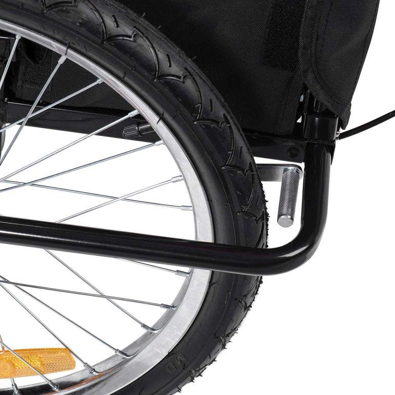 SAMAX Rimorchio de Bicicletta Passeggino Bambini - in Verde/Nero - Black Frame – Bild 13