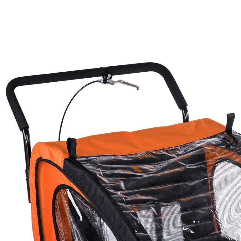 SAMAX Remorque Vélo convertible Jogger 2en1 Enfant - en Orange/Noir - Black Frame – Bild 10