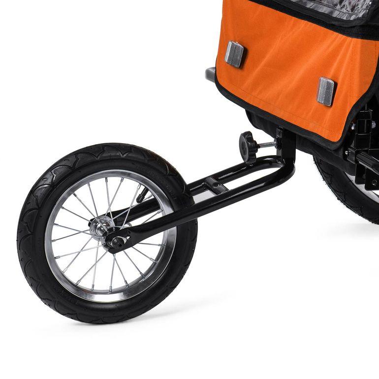 SAMAX Remorque Vélo convertible Jogger 2en1 Enfant - en Orange/Noir - Black Frame – Bild 12