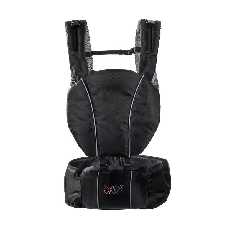 Baby Vivo Baby Carrier with built-in Seating - in Black/Grey – Bild 2