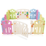 Baby Vivo Foldable Baby Child Playpen 4-Side - Expandable