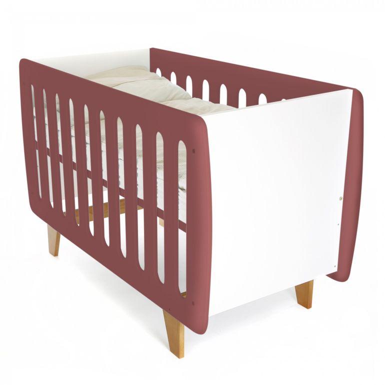 Baby Vivo Kinderbett / Juniorbett 120 x 60 cm - Eve Rotbraun – Bild 3