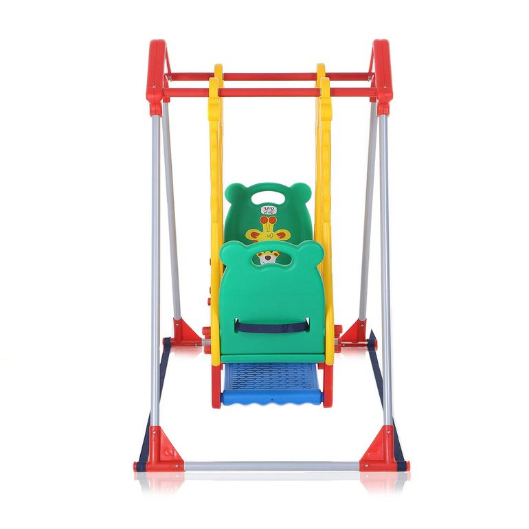 Baby Vivo Kids Swing Playground with Double Swing for Indoor and Outdoor - Zoo – Bild 2