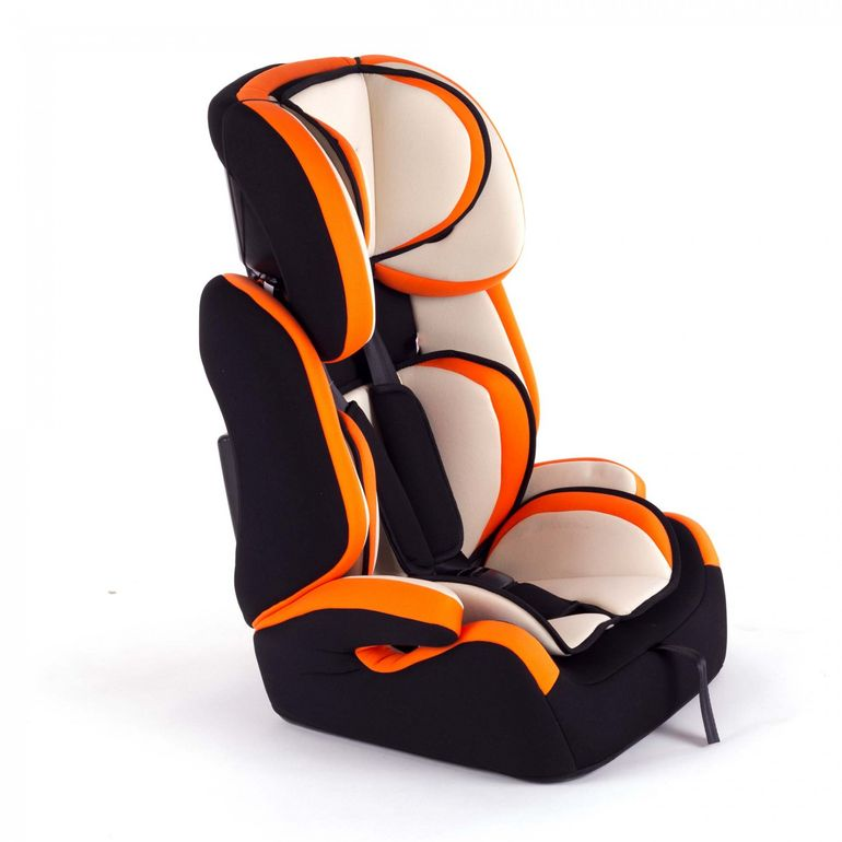 Baby Vivo Car Seat for Children TOM from 9-36 kg - Group 1+2+3 in Orange/Cream – Bild 1