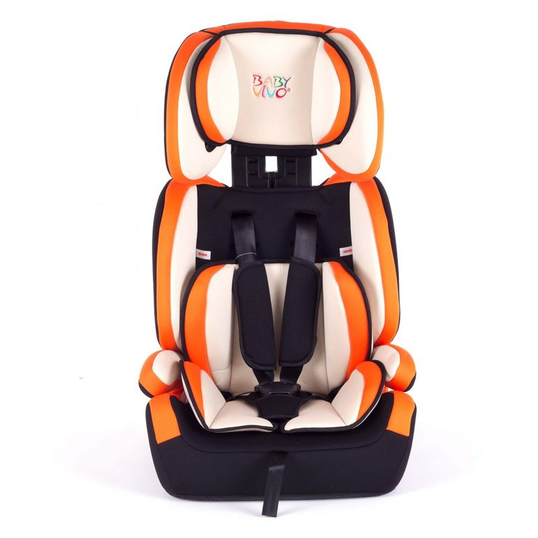 Baby Vivo Car Seat for Children TOM from 9-36 kg - Group 1+2+3 in Orange/Cream – Bild 3