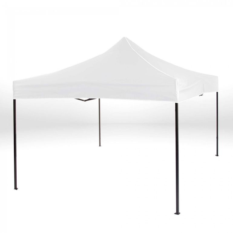 Strattore Foldable Gazebo with Canopy / Garden Tent - 3,0 x 3,0 x 3,05 m in White – Bild 2