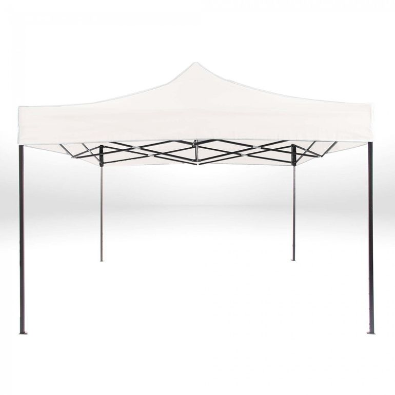Strattore Foldable Gazebo with Canopy / Garden Tent - 3,0 x 3,0 x 3,05 m in White – Bild 3