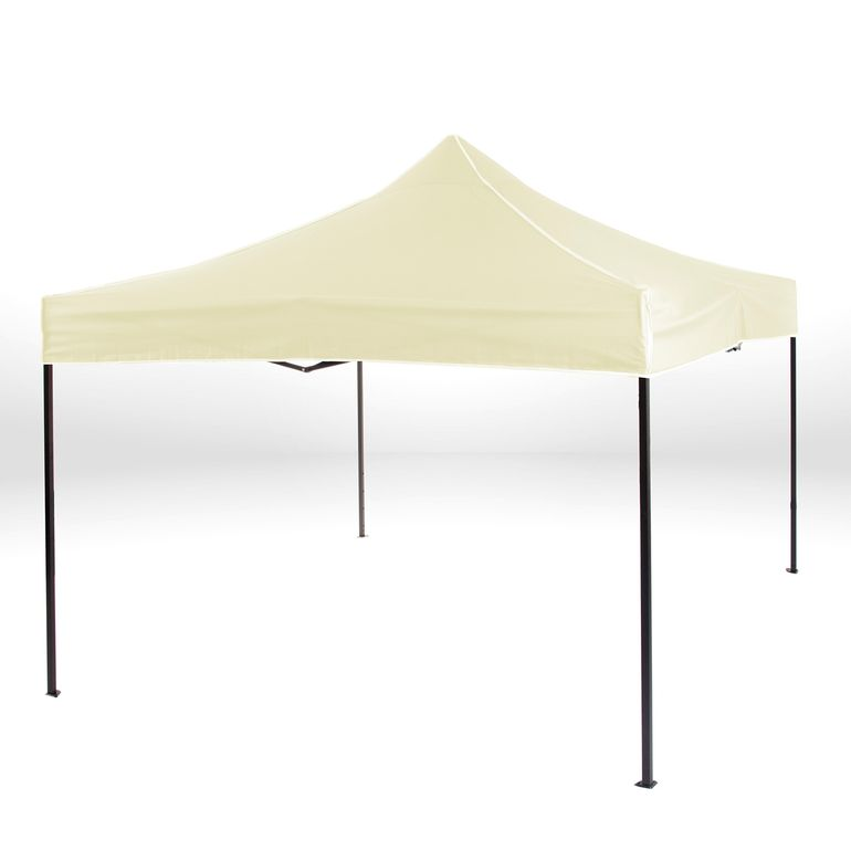 Strattore Foldable Gazebo with Canopy / Garden Tent - 3,0 x 3,0 x 3,05 m in Light Yellow – Bild 2