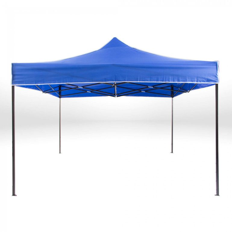 Strattore Foldable Gazebo with Canopy / Garden Tent - 3,0 x 3,0 x 3,05 m in Blue – Bild 3
