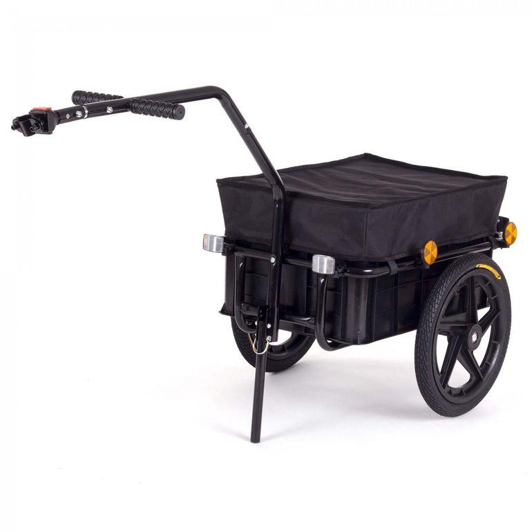 SAMAX Remorque de Vélo / Chariot de Transport pour 60 Kg / 70 L en Noir – Bild 1