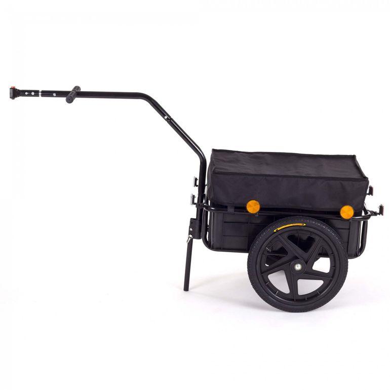 SAMAX Remorque de Vélo / Chariot de Transport pour 60 Kg / 70 L en Noir – Bild 2