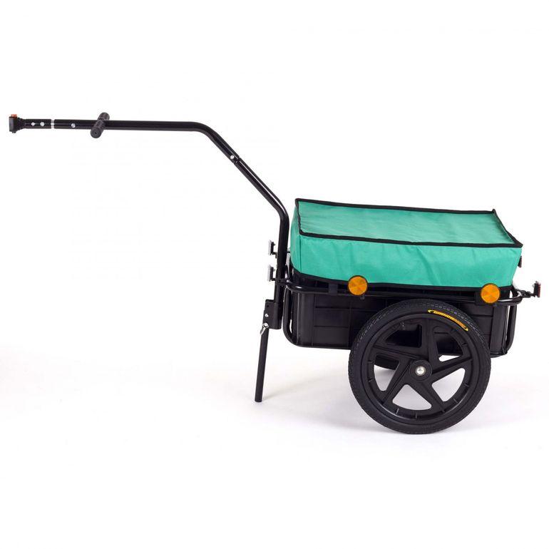 SAMAX Lastenanhänger / Fahrradanhänger für 60 Kg / 70 Liter in Grün – Bild 2