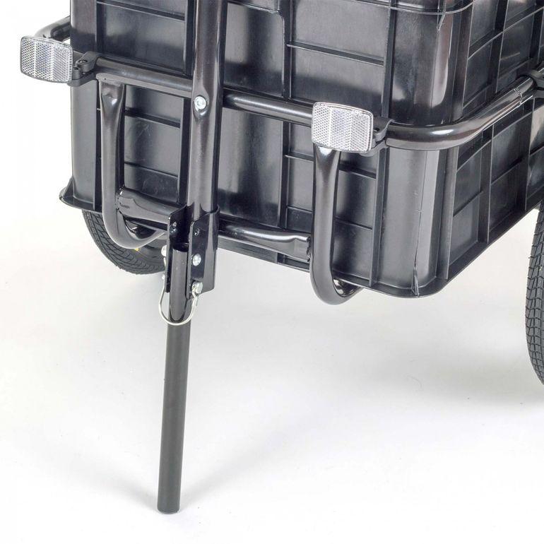 SAMAX Lastenanhänger / Fahrradanhänger für 60 Kg / 70 Liter in Grün – Bild 7
