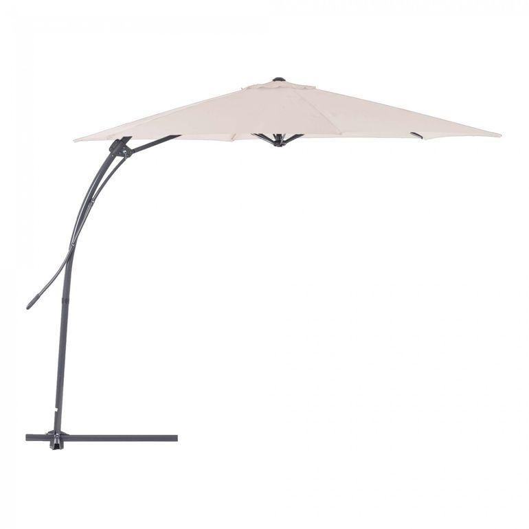 Strattore Parasol de Jardin Cantilever Ombrelle - 3 m en Crème – Bild 2