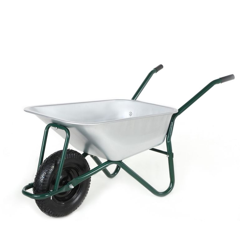 MAXCRAFT Wheelbarrow / Garden Cart Pneumatic Tire 200 kg 100 L - Green – Bild 1