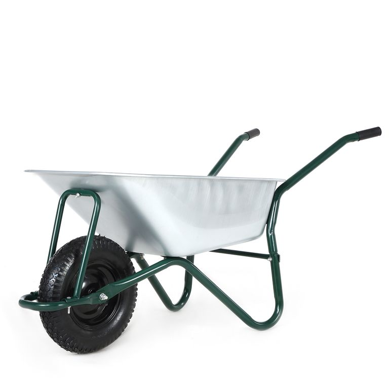 MAXCRAFT Wheelbarrow / Garden Cart Pneumatic Tire 200 kg 100 L - Green – Bild 2