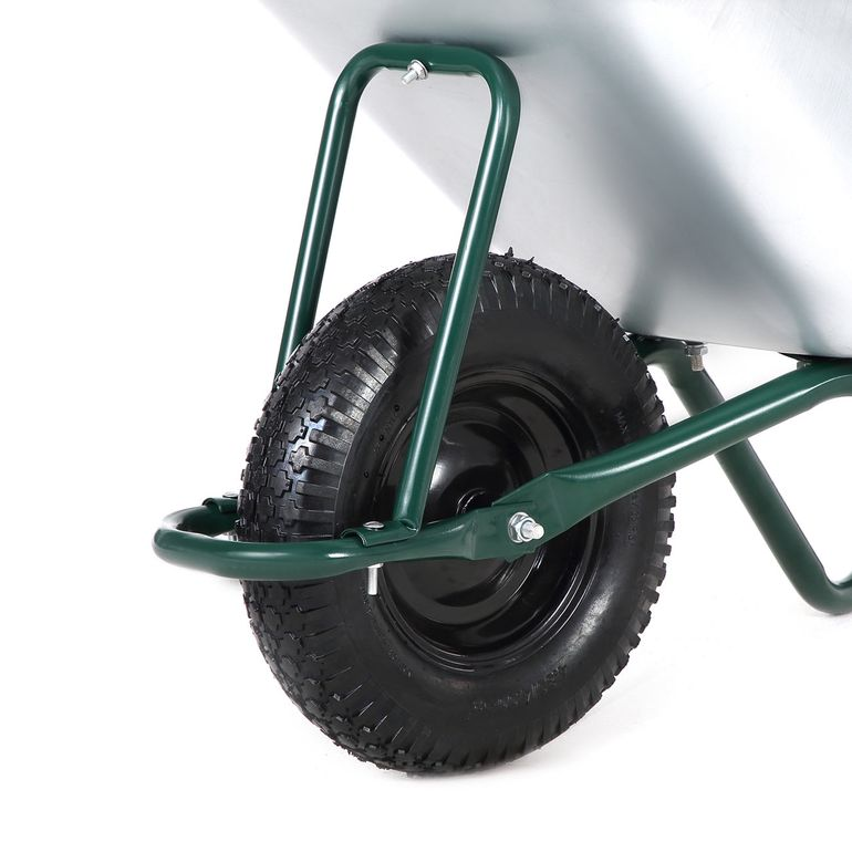MAXCRAFT Wheelbarrow / Garden Cart Pneumatic Tire 200 kg 100 L - Green – Bild 8