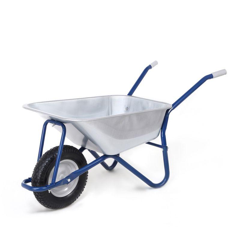 MAXCRAFT Wheelbarrow / Garden Cart Pneumatic Tire 200 kg 100 L - Blue – Bild 1