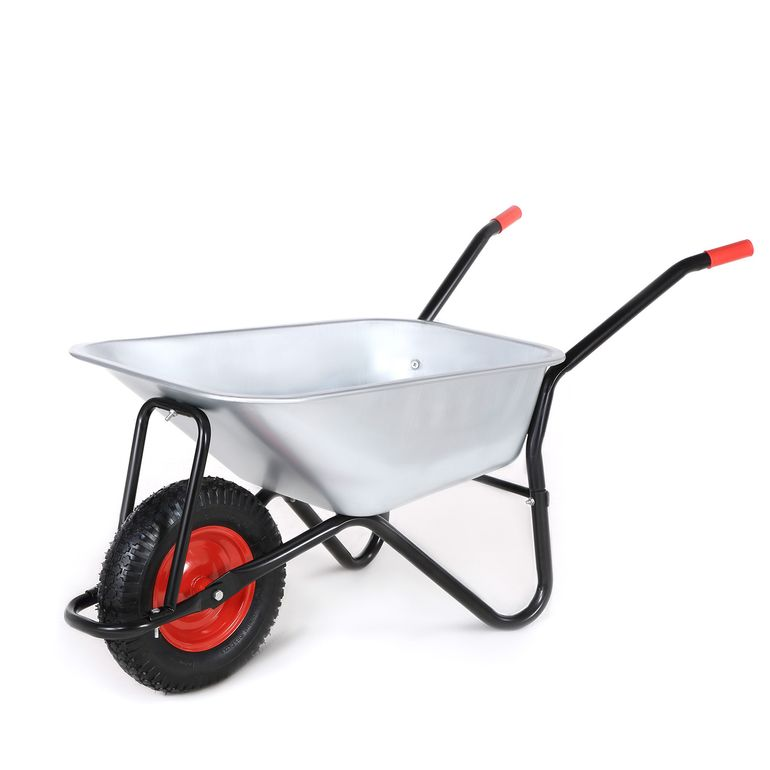 MAXCRAFT Wheelbarrow / Garden Cart Pneumatic Tire 200 kg 100 L - Black – Bild 1