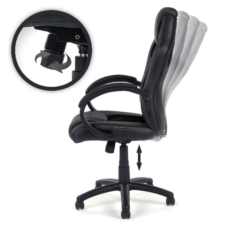 MY SIT Office Chair Racing PU - Black V8 – Bild 2