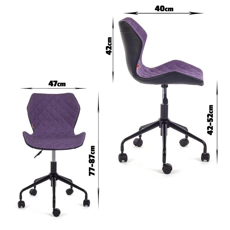 MY SIT Office Chair adjustable Stool INO Black/Violet – Bild 7