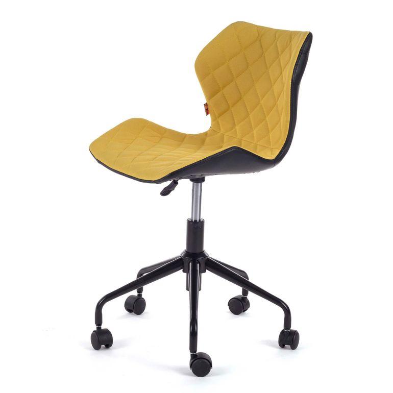 MY SIT Bürostuhl Design-Hocker Drehstuhl Stuhl INO Gelb/Schwarz – Bild 3
